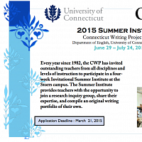Summer Institute   Connecticut Writing Project