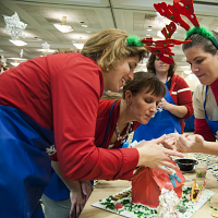 Holiday Celebration/Gingerbread House Decorating Competition