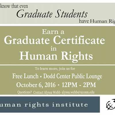 Meet & Greet for Human Rights Grad Certificate