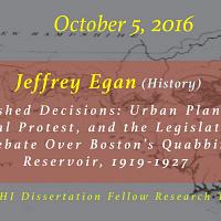 Dissertation Fellow Research Talk: Jeffrey Egan