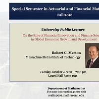 University Public Lecture by Robert C. Merton