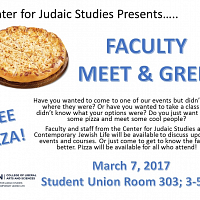 Judaic Studies Faculty Meet and Greet