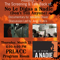 No Le Digas a Nadie - Screening and Talk-Back