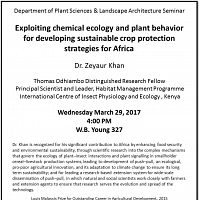 Plant Science Seminar - Sustainable Crop Production-Africa