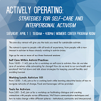 Retreat: Self-Care and Interpersonal Activism