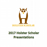 Holster Scholars Summer Research Presentations
