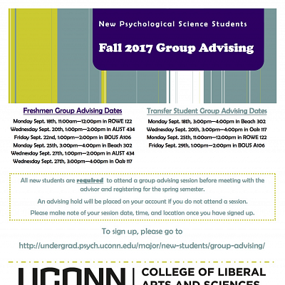 PSYC New Student Group Advising - Transfer Student Session