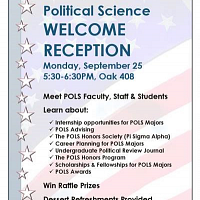 POLS Welcome Reception