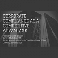 Corporate Compliance as a Competitive Advantage