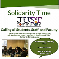 JUST Community/Solidarity Time