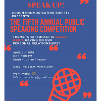 Speak Up! The Fifth Annual Public Speaking Competition