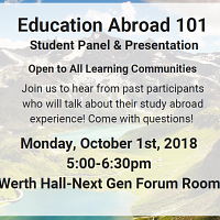 Education Abroad 101 for Learning Communities