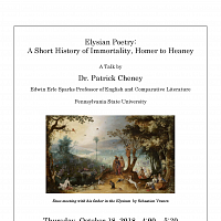 Elysian Poetry with Dr. Patrick Cheney