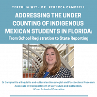 Tertulia:Under Counting of Indigenous Mexican Students in FL