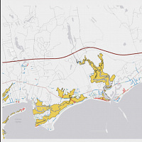 Sea Level Rise Affecting Road Flooding & Marsh Migration along the Connecticut Coast