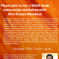 Please Join Us For A WGSS Book Manuscript Workshop With Elva Orozco Mendoza