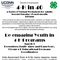 4-H In 40: Reengaging Youth In 4-H Programs