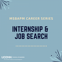 Internship & Job Search: MSBAPM Career Series