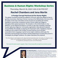 Business & Human Rights Workshop Series: A Foreign Corrupt Practices Act for Human Rights