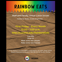 Rainbow Eats: Staff/Faculty Virtual Lunch Socials, Hosted By QUE