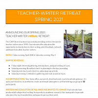 CWP Teacher-Writer Virtual Writing Retreat